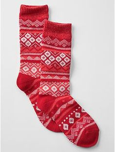 fair isle socks - holiday gift guide