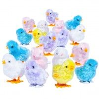 Wind em' up and watch em' hop!  Cute #easter #chicks & #bunnies + tons o' fuzzy friends to choose from!  [just $1] #fivebelow