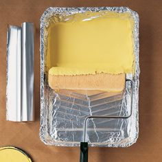 Line your paint pan with foil for easy clean up