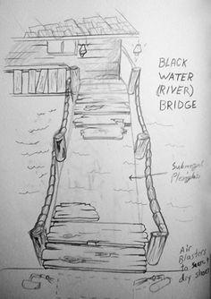Swamp Theme Rope Bridge