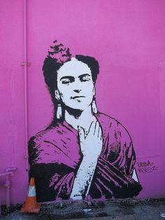 Frida street art in Houston Texas