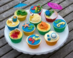 ocean cupcake