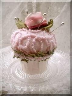 chenille cupcake pin cushion...