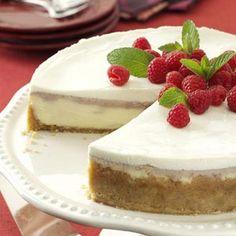 Raspberry Almond Cheesecake Recipe from Taste of Home