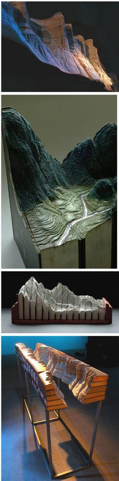 Carved landscapes in bооks bу Guy Laramee