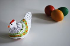 Crocheted egg cozy