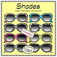 Shades! Clip art FREEBIE http://www.teacherspayteachers.com/Product/Doodle-Shades-Clip-Art-Freebie-1268032