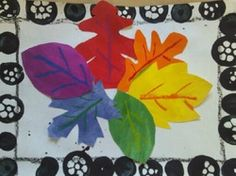 Color wheel leaf art project