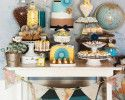 Pretty dessert buffet  Yellow and turquoise Hostess with the Mostess® Daily Blog