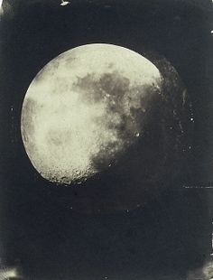 John Adams Whipple, The Moon 1857-1860. Salted paper print from glass negative