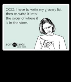OCD - organized grocery list. Am I the only one who does this?