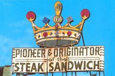 1950s Pat's Steaks Crown, on loan at Jack's Firehouse restaurant;The Pioneer & Originator of the Steak Sandwich in storage.