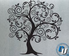 Swirly Tree 6  - Removable Vinyl Wall Decal Art Decor Sticker Mural Modern Nature. $79.99, via Etsy.