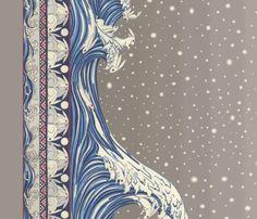 Moon Rabbit  fabric by ceanirminger on Spoonflower - custom fabric