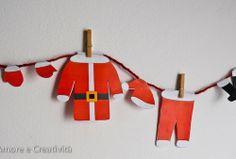 Paper toys: santa laundry