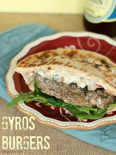 Gyros Burgers - Easy twist on the Greek classic!