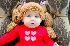 Cabbage Patch Hat by NMJCrochetCreations on Etsy, $18.00 Maybe Carly should be a Cabbage Patch for Halloween?! NICKI!