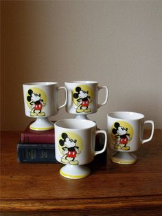 Mickey Mouse Mugs - Walt Disney Productions - Pie-Eyed Mickey - Pedestal _ Mickey Mouse Cups