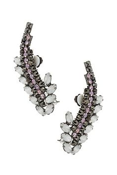 Double Curve Stone Ear Cuffs