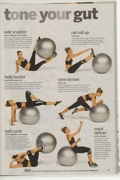 Tone Your Gut. Yoga ball workouts are soo intense they really do work your core!