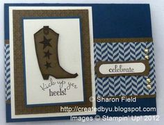 Masculine stamped Cowboy Bootiful Occasions
