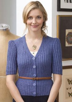 Downton Abbey Cardigan: free knitting pattern for a truly vintage design.
