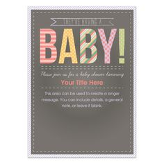 Free Printable Baby Shower Invitation designed by Alisse Courter!  #freebabyshowerinvites