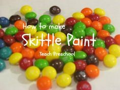 How to make skittle paint from Teach Preschool