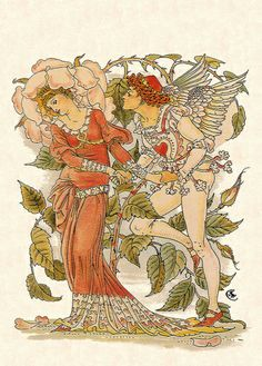 "Walter Crane, ""Cupid and the Rose"""