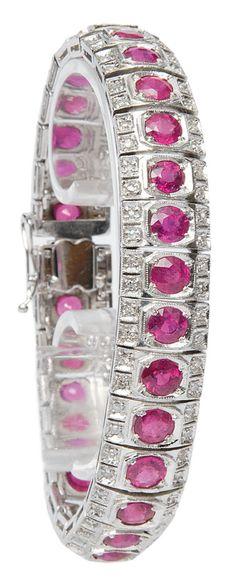 Beautiful Diamond ruby bracelet