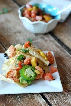Grilled Shrimp Nachos from @lemonsforlulu