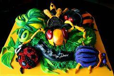 bug cake, kid cake, birthday cakes