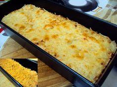 Pastel de patata con pollo y berenjenas
