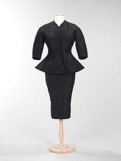 Suit, Dinner, Charles James, 1953, silk, the met