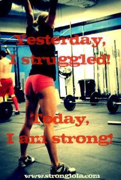 Great Inspiration and motivation!!! #wodlove #strong #struggle #crossfit