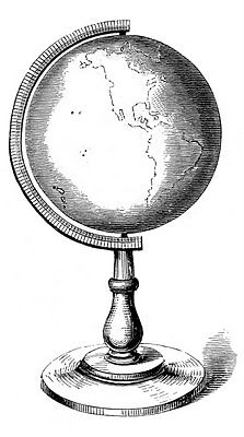 Vintage Clip Art – Globes, Earth – Steampunk