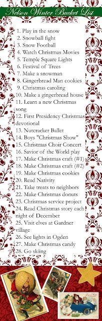 Christmas/Winter Bucket List