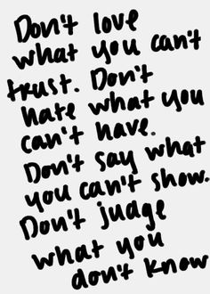Don't hate what you can't have