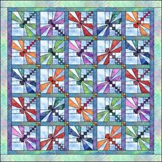 dragonfly quilt by GarJo12881