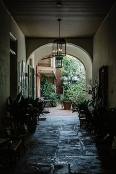 walkway between garage & house