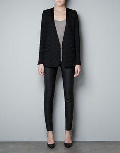 Zara Lace Tuxedo Jacket