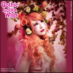 Gothic Lolita Wigs® Classic Wavy Mermaid Lolita™ Collection - Peachy Pink – Dolluxe® Our Classic series was envisioned and designed with casual, daily wear in mind; This wig come complete with fun, loose cascading curls and long, side-swept bangs which can be trimmed or styled to suit your face #gothiclolitawigs #GLW #IAMDOLLUXE #wig #coolhair #hairfashion #style #hairstyle #pretty