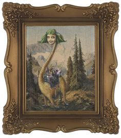 Adding Monsters to Thrift Store Paintings - Imgur