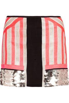 Sass & bide | All Good Things embellished neon silk skirt
