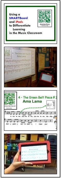Using a SMARTBoard and iPads to Differentiate learning in the Music Classroom. Recorder Karate in a 1:1 iPad school. WOW! smart board, smartboard, ipad school
