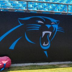 from Carolina Panthers @Panthers  Our updated logo is now in-bowl at the stadium.