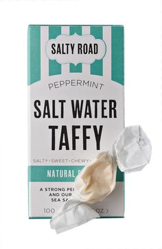 Pin it to Win it! Day 6: Salty Road Salt Water Taffy. Re-pin with the Hashtag #12DaysBK to enter to win.