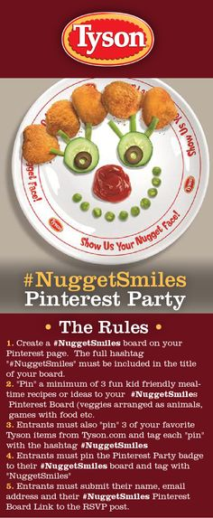 I'm participating in the #NuggetSmiles Pinterest Party!