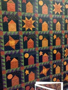 perfect fall, halloween stuff, big quilt, halloween quilts, color schemes, hous quilt, fall quilt, quilt ii, quilt idea