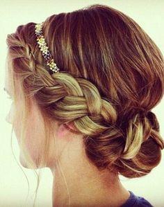 pretty braid + headband #hair